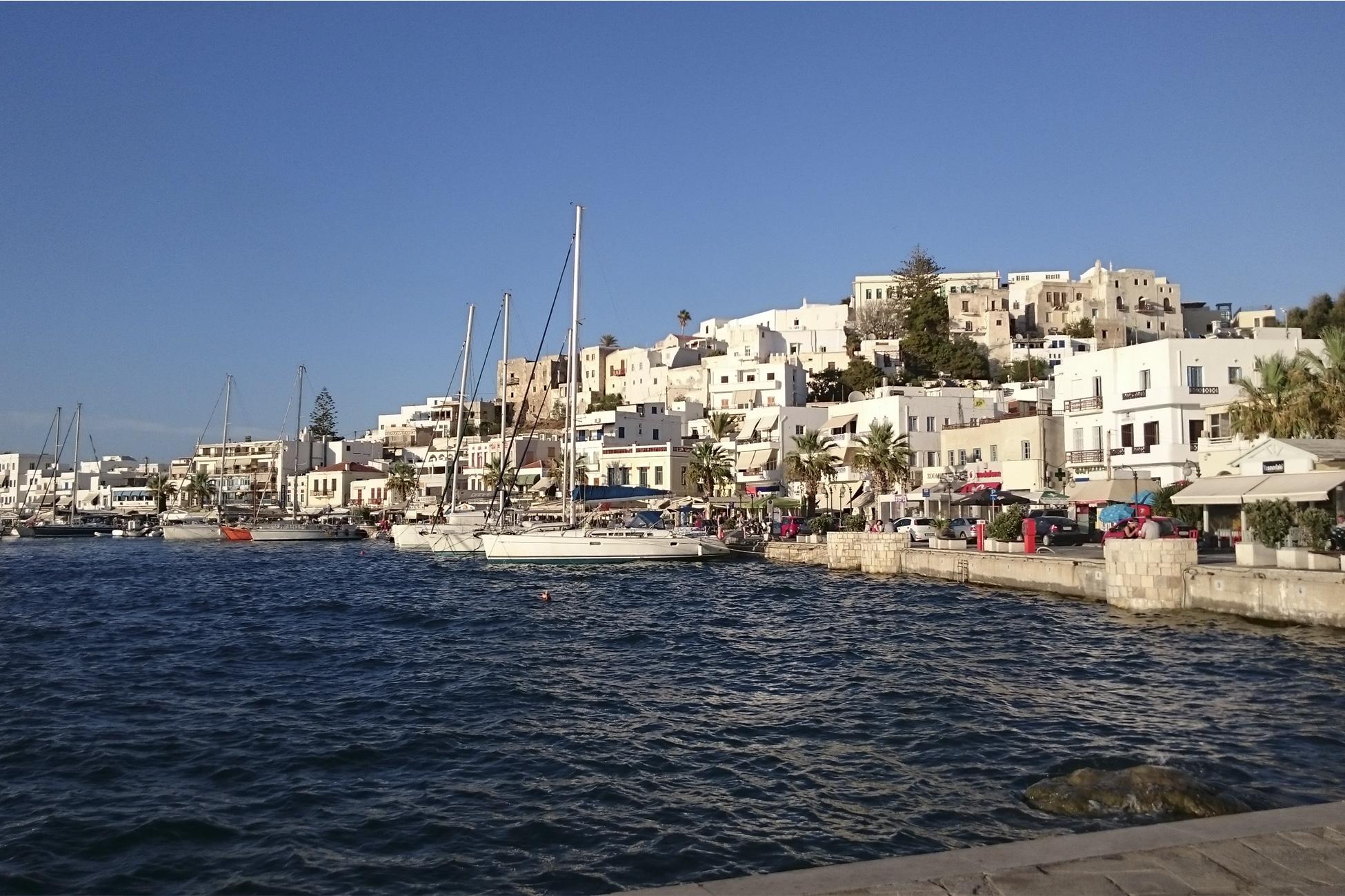 Kykladen Naxos stadt